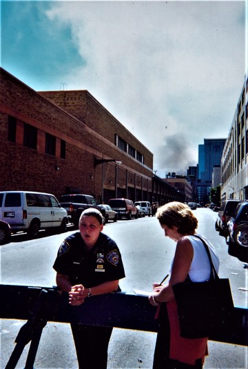 Catherine with NYPD 9-12-01